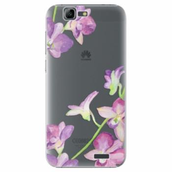 Plastové pouzdro iSaprio - Purple Orchid - Huawei Ascend G7