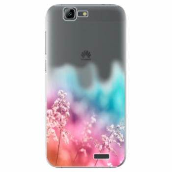 Plastové pouzdro iSaprio - Rainbow Grass - Huawei Ascend G7