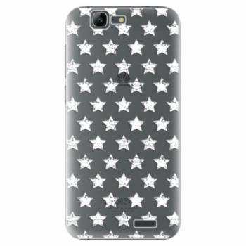 Plastové pouzdro iSaprio - Stars Pattern - white - Huawei Ascend G7