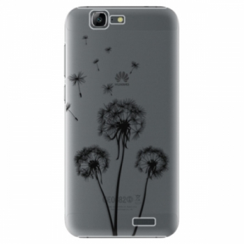 Plastové pouzdro iSaprio - Three Dandelions - black - Huawei Ascend G7