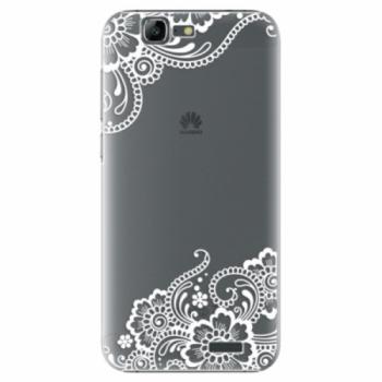 Plastové pouzdro iSaprio - White Lace 02 - Huawei Ascend G7