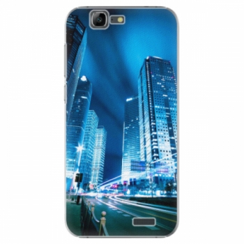 Plastové pouzdro iSaprio - Night City Blue - Huawei Ascend G7