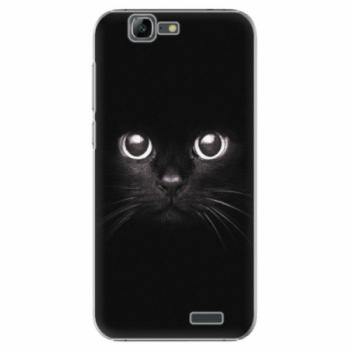 Plastové pouzdro iSaprio - Black Cat - Huawei Ascend G7