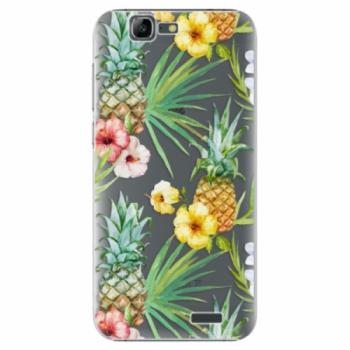 Plastové pouzdro iSaprio - Pineapple Pattern 02 - Huawei Ascend G7