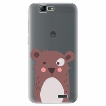 Plastové pouzdro iSaprio - Brown Bear - Huawei Ascend G7