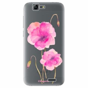 Plastové pouzdro iSaprio - Poppies 02 - Huawei Ascend G7