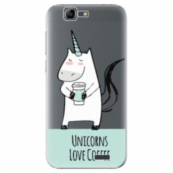 Plastové pouzdro iSaprio - Unicorns Love Coffee - Huawei Ascend G7