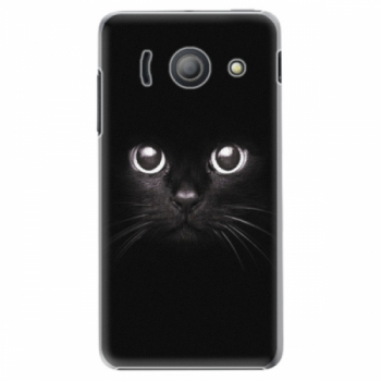 Plastové pouzdro iSaprio - Black Cat - Huawei Ascend Y300