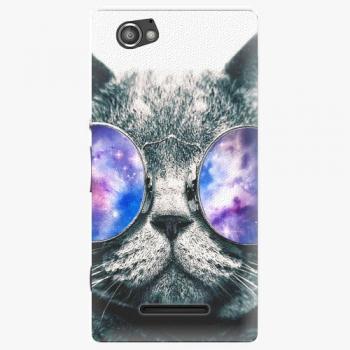 Plastový kryt iSaprio - Galaxy Cat - Sony Xperia M
