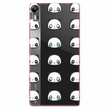 Plastové pouzdro iSaprio - Panda pattern 01 - Lenovo Vibe Shot