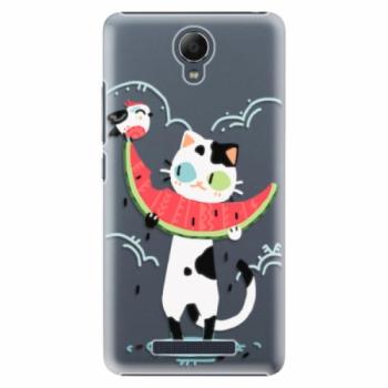 Plastové pouzdro iSaprio - Cat with melon - Xiaomi Redmi Note 2