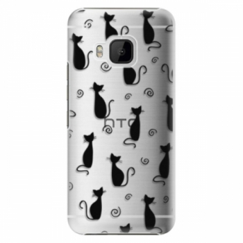 Plastové pouzdro iSaprio - Cat pattern 05 - black - HTC One M9