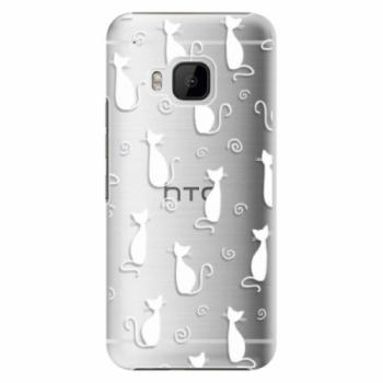 Plastové pouzdro iSaprio - Cat pattern 05 - white - HTC One M9