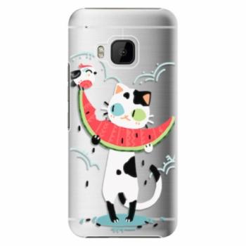 Plastové pouzdro iSaprio - Cat with melon - HTC One M9