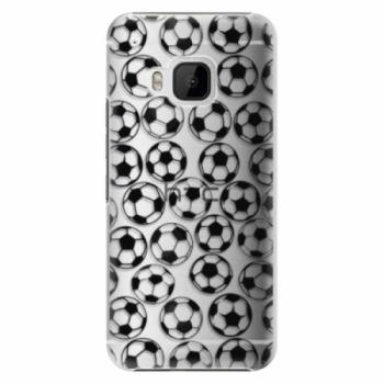 Plastové pouzdro iSaprio - Football pattern - black - HTC One M9