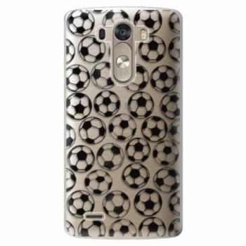 Plastové pouzdro iSaprio - Football pattern - black - LG G3 (D855)