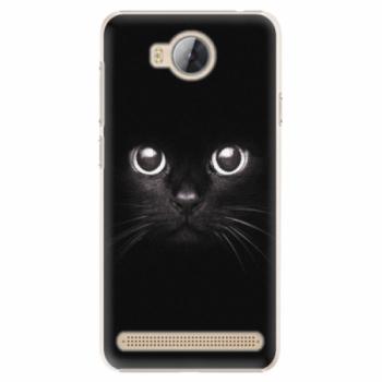 Plastové pouzdro iSaprio - Black Cat - Huawei Y3 II