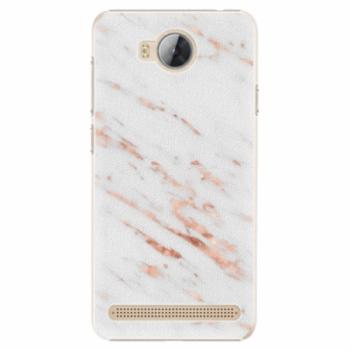 Plastové pouzdro iSaprio - Rose Gold Marble - Huawei Y3 II