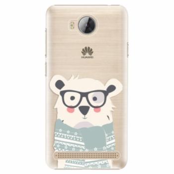 Plastové pouzdro iSaprio - Bear with Scarf - Huawei Y3 II