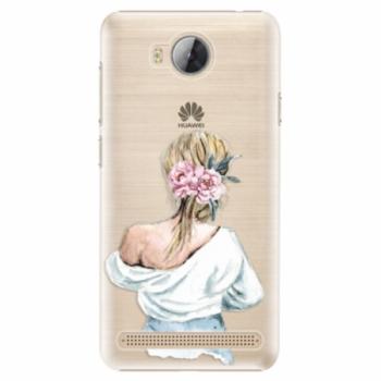 Plastové pouzdro iSaprio - Girl with flowers - Huawei Y3 II
