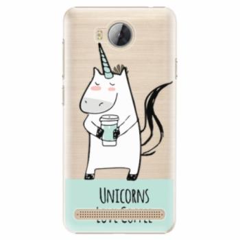 Plastové pouzdro iSaprio - Unicorns Love Coffee - Huawei Y3 II