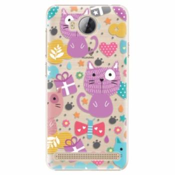 Plastové pouzdro iSaprio - Cat pattern 01 - Huawei Y3 II