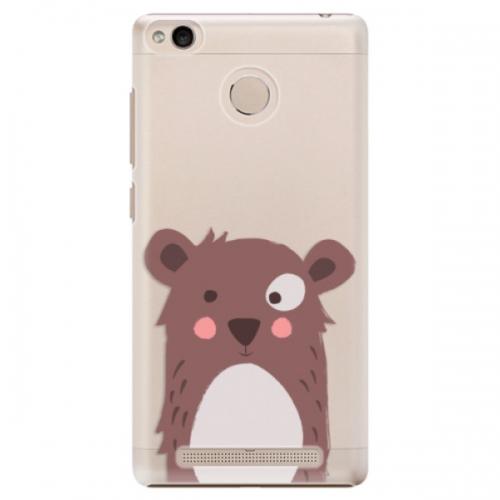 Plastové pouzdro iSaprio - Brown Bear - Xiaomi Redmi 3S