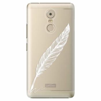 Plastové pouzdro iSaprio - Writing By Feather - white - Lenovo K6 Note