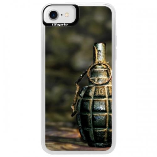 Neonové pouzdro Blue iSaprio - Grenade - iPhone 7