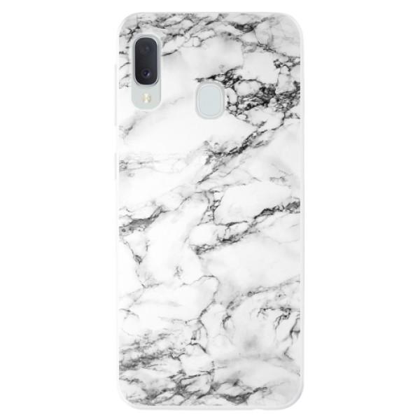 Odolné silikonové pouzdro iSaprio - White Marble 01 - Samsung Galaxy A20e