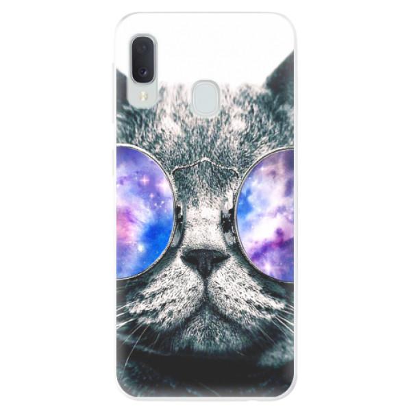 Odolné silikonové pouzdro iSaprio - Galaxy Cat - Samsung Galaxy A20e