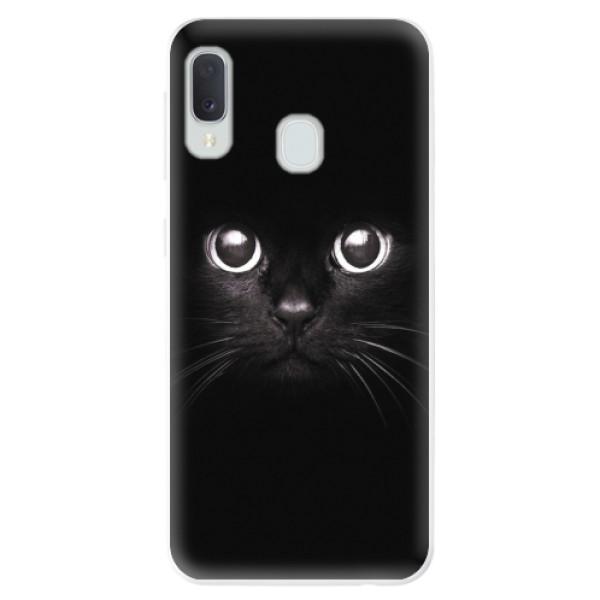 Odolné silikonové pouzdro iSaprio - Black Cat - Samsung Galaxy A20e