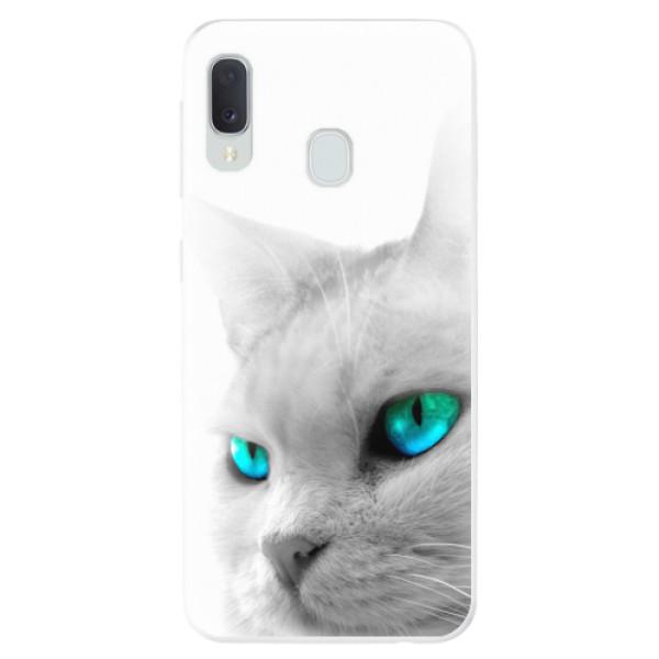 Odolné silikonové pouzdro iSaprio - Cats Eyes - Samsung Galaxy A20e