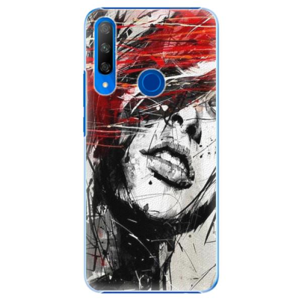 Plastové pouzdro iSaprio - Sketch Face - Huawei Honor 9X