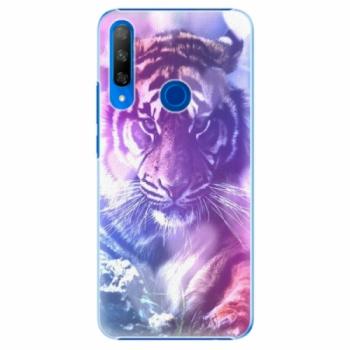 Plastové pouzdro iSaprio - Purple Tiger - Huawei Honor 9X