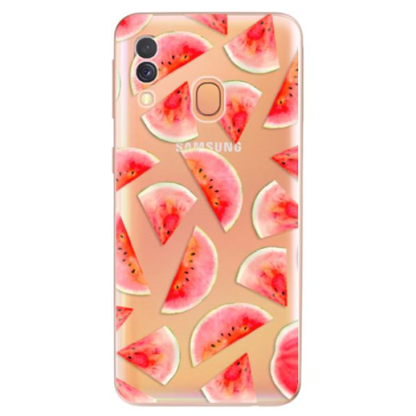 Odolné silikonové pouzdro iSaprio - Melon Pattern 02 - Samsung Galaxy A40