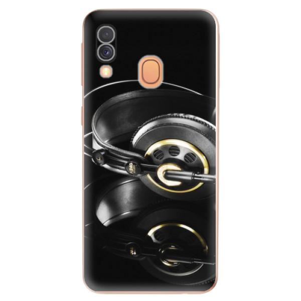 Odolné silikonové pouzdro iSaprio - Headphones 02 - Samsung Galaxy A40