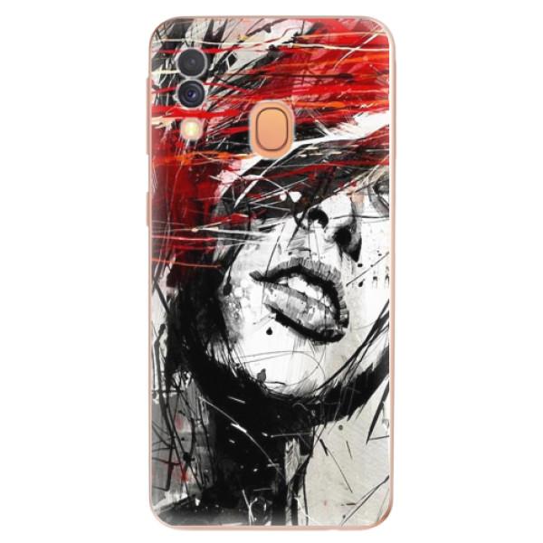 Odolné silikonové pouzdro iSaprio - Sketch Face - Samsung Galaxy A40