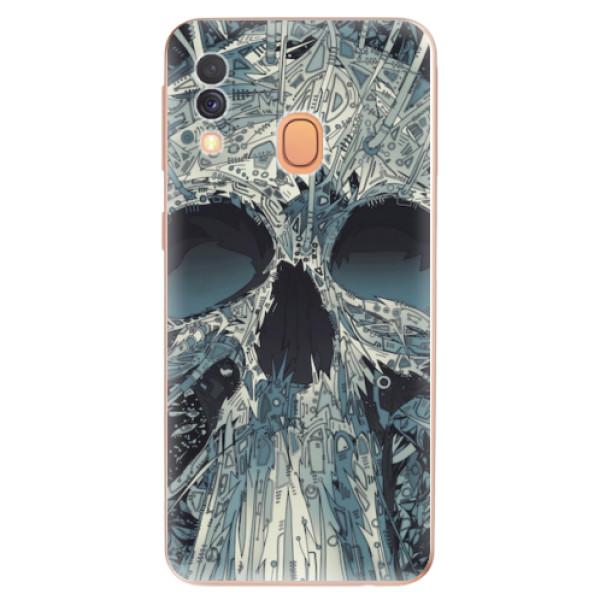 Odolné silikonové pouzdro iSaprio - Abstract Skull - Samsung Galaxy A40