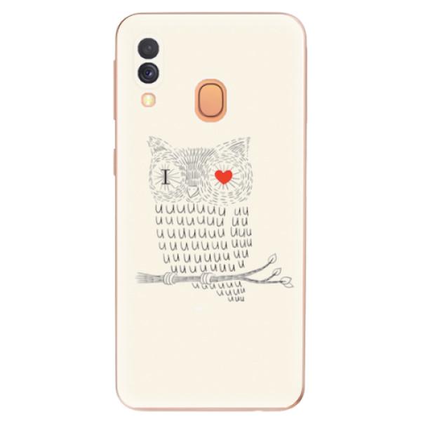 Odolné silikonové pouzdro iSaprio - I Love You 01 - Samsung Galaxy A40