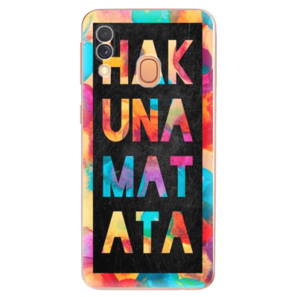 Odolné silikonové pouzdro iSaprio - Hakuna Matata 01 - Samsung Galaxy A40