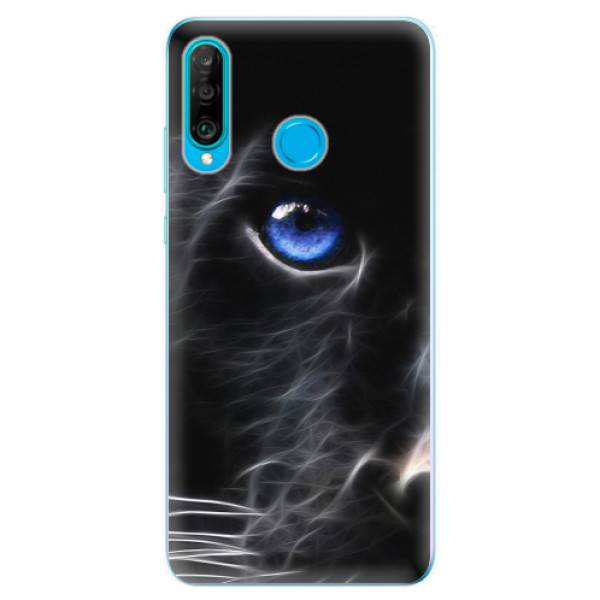 Odolné silikonové pouzdro iSaprio - Black Puma - Huawei P30 Lite