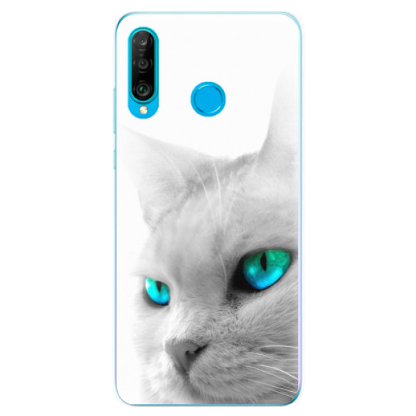 Odolné silikonové pouzdro iSaprio - Cats Eyes - Huawei P30 Lite