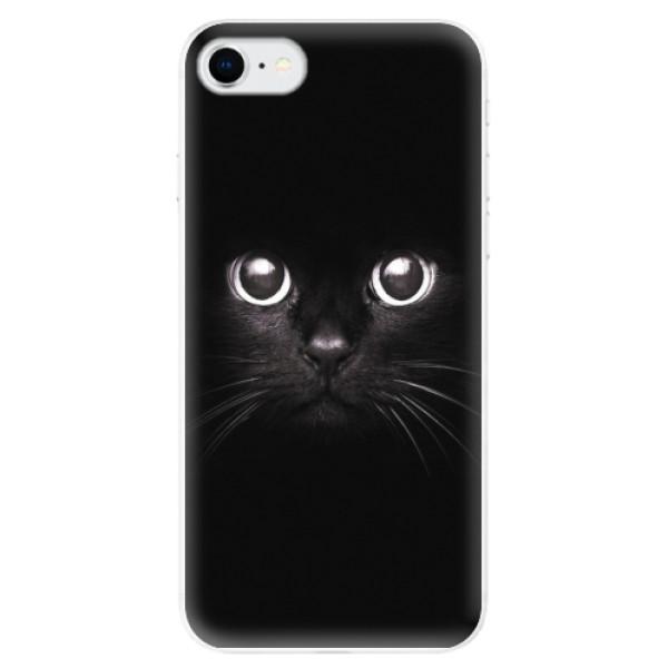Odolné silikonové pouzdro iSaprio - Black Cat - iPhone SE 2020