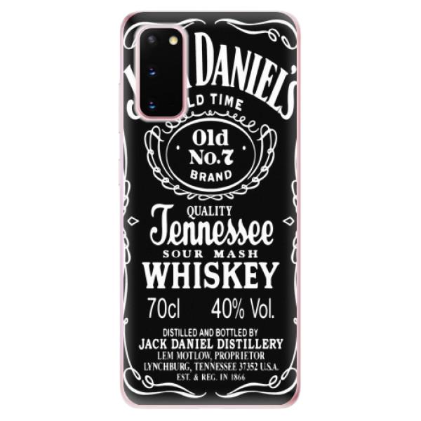 Odolné silikonové pouzdro iSaprio - Jack Daniels - Samsung Galaxy S20