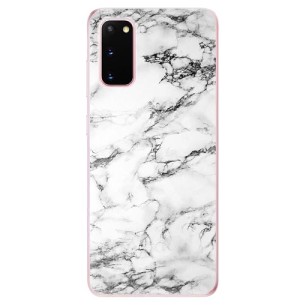 Odolné silikonové pouzdro iSaprio - White Marble 01 - Samsung Galaxy S20