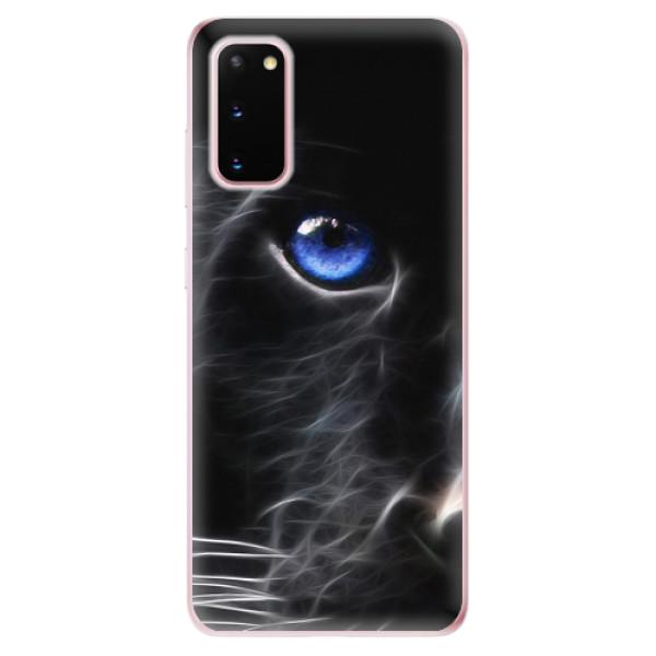Odolné silikonové pouzdro iSaprio - Black Puma - Samsung Galaxy S20