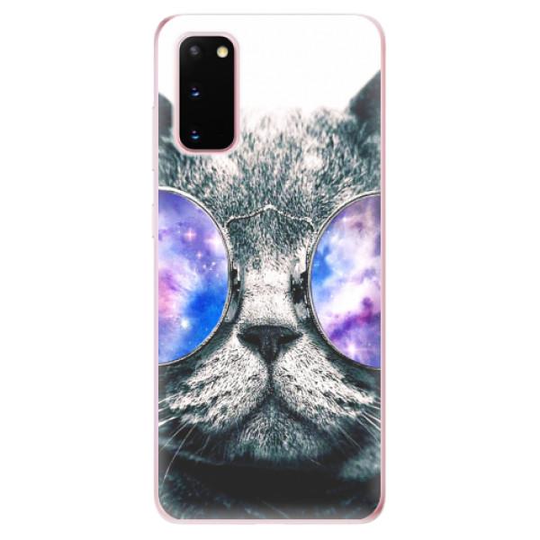 Odolné silikonové pouzdro iSaprio - Galaxy Cat - Samsung Galaxy S20