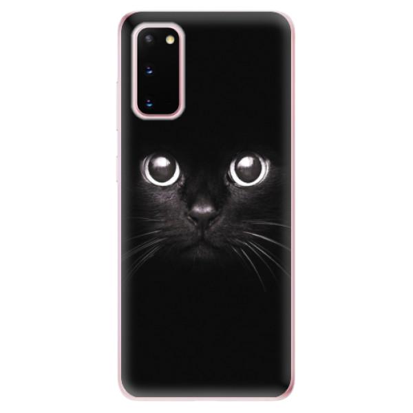 Odolné silikonové pouzdro iSaprio - Black Cat - Samsung Galaxy S20