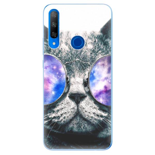 Odolné silikonové pouzdro iSaprio - Galaxy Cat - Huawei Honor 9X